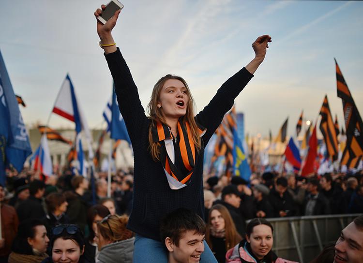 Rusia celebra la reintegración de Crimea