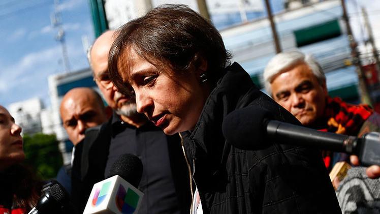 la periodista mexicana Carmen Aristegui
