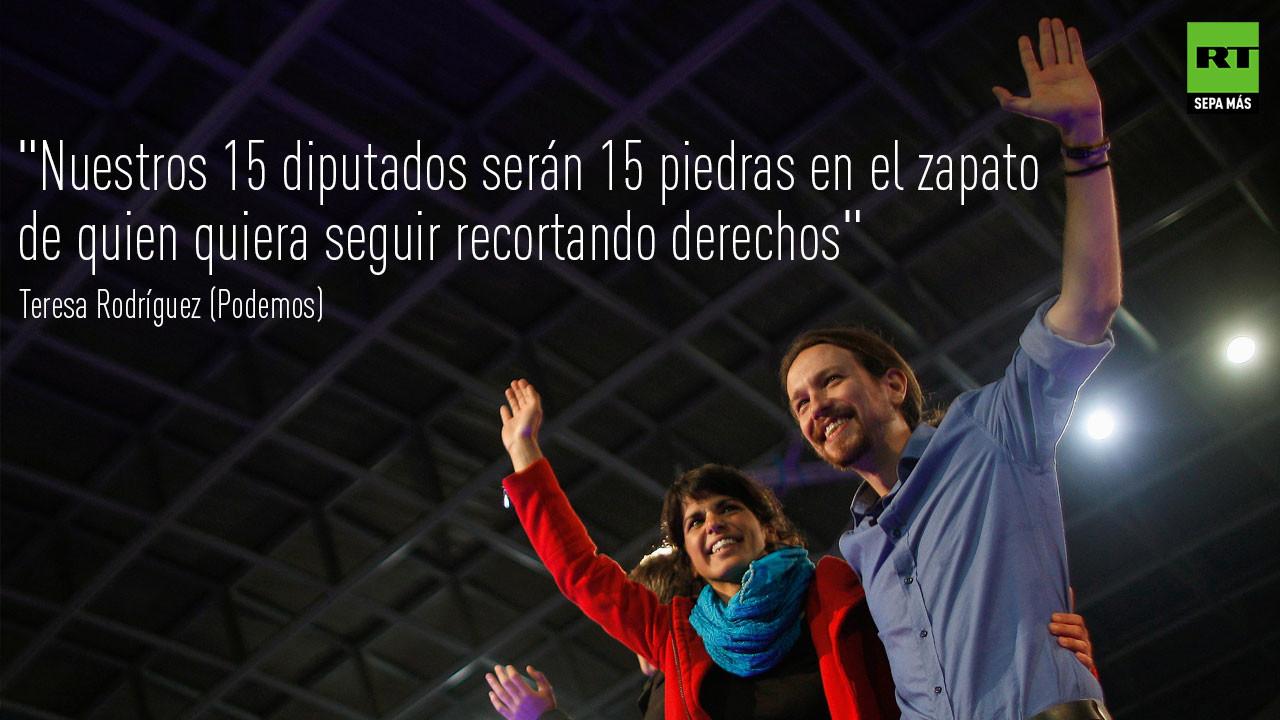 Teresa Rodríguez y Pablo Iglesias