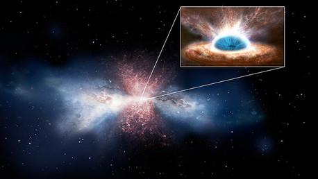Observan el agujero negro que expele el gas del que surgen las estrellas de la galaxia