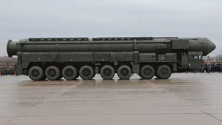 El misil Topol con capacidad de portar una ojiva nuclear