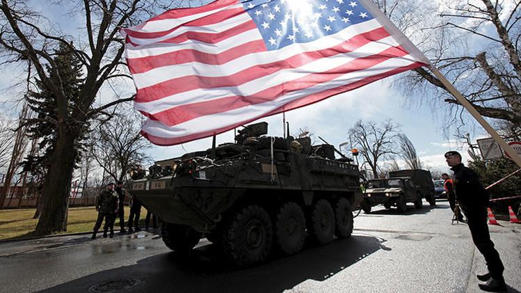 Militares estadounidenses en Praga, la República Checa. 30 de marzo de 2015