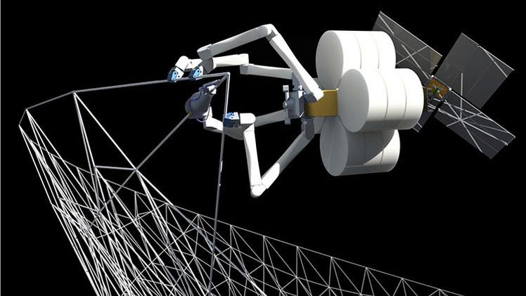 La NASA: Arañas-robot 'tejerán' grandes estructuras espaciales en órbita