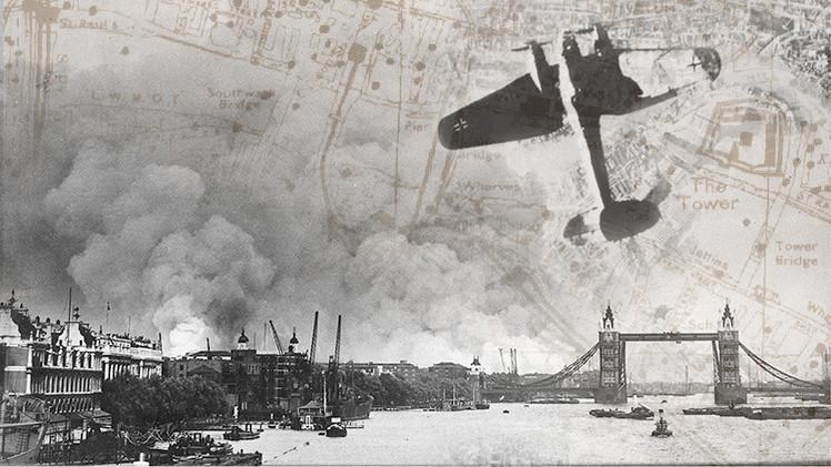 El impresionante mapa que muestra todas las bombas nazis que cayeron sobre Londres