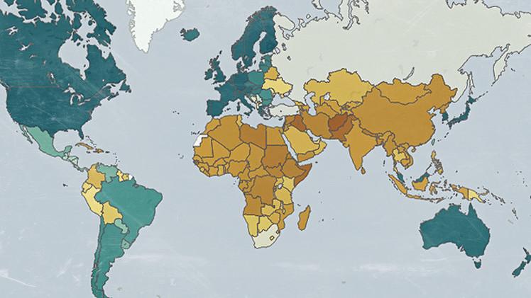 Mapa: ¿Cuáles son los pasaportes más y menos poderosos del mundo?