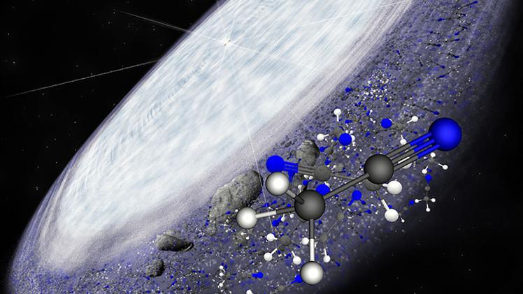 Hallan cerca de una estrella componentes esenciales para la vida