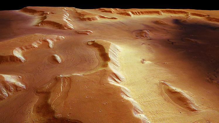 Hallan glaciares bajo el polvo de Marte con agua suficiente para cubrir todo el planeta