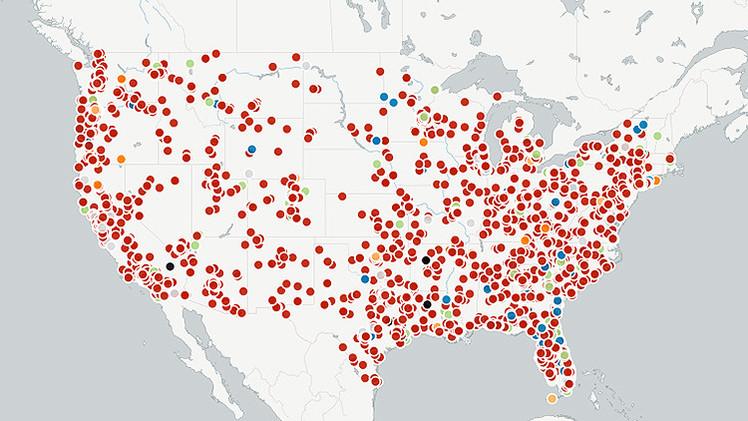 Un mapa revela el escalofriante nivel de la brutalidad policial en EE.UU.