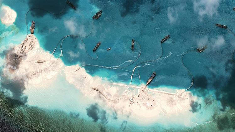 Fotos: La sorprendente creación de islas artificiales por China en el mar en disputa