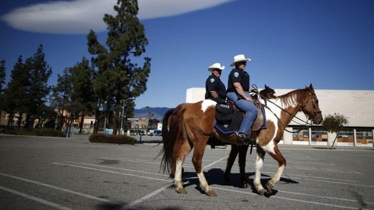 Video: Policías de EE.UU. golpean a un hombre que robó un caballo