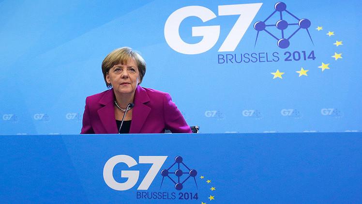 Piden a Merkel en el Parlamento que invite a Rusia a la cumbre del G7 de junio
