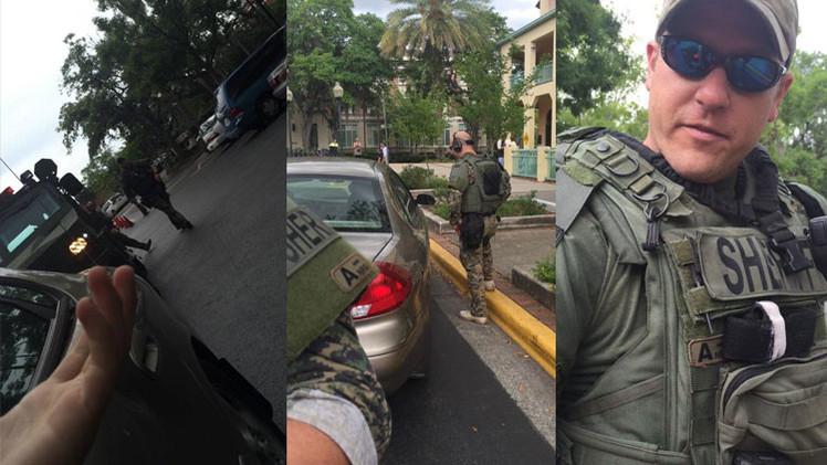 Video: Vehículos blindados patrullan las calles de Florida
