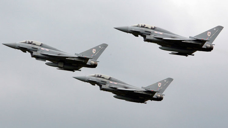 Otra acusación infundada: Reino Unido 'intercepta' cazas rusos cerca de su espacio aéreo