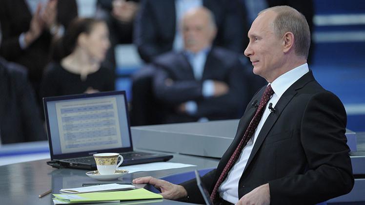 Los momentos más memorables de los maratones en vivo de Vladímir Putin
