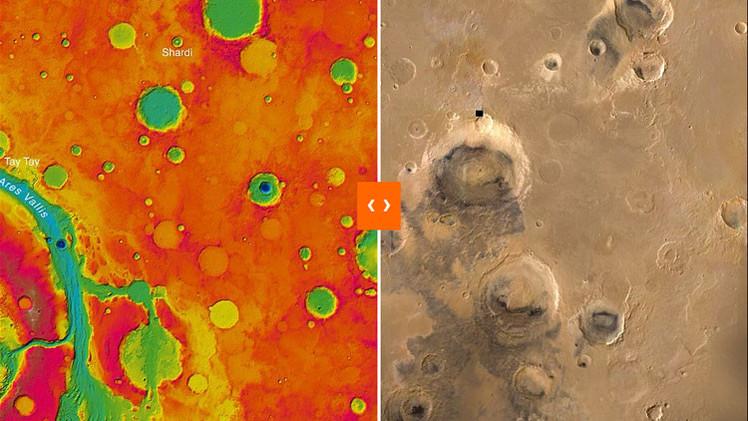 ¿Cómo es estar en Marte?: Un inédito mapa 3D tiene la respuesta (Fotos)