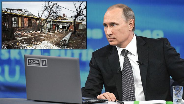"""Putin: """"Al no cumplir con sus deberes sociales, el propio Kiev aparta a Donbass de Ucrania"""""""