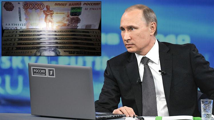 """Putin: """"Rusia ha sobrevivido la cúspide de los problemas en el sector financiero"""""""