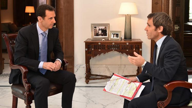 """Al Assad: """"Francia es un satélite de EE.UU. que apoya a terroristas en Siria"""""""