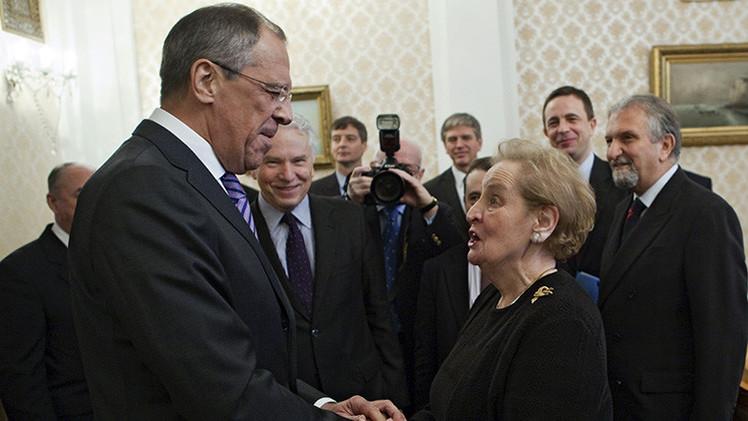 Lavrov contó cómo junto con Madeleine Albright violó la ley de EE.UU.