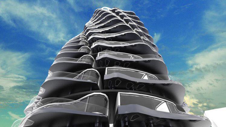 Video, Fotos: El edificio futurista giratorio con vistas panorámicas cambiantes
