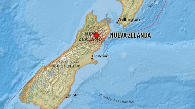 Un sismo de magnitud 6,3 sacude Nueva Zelanda