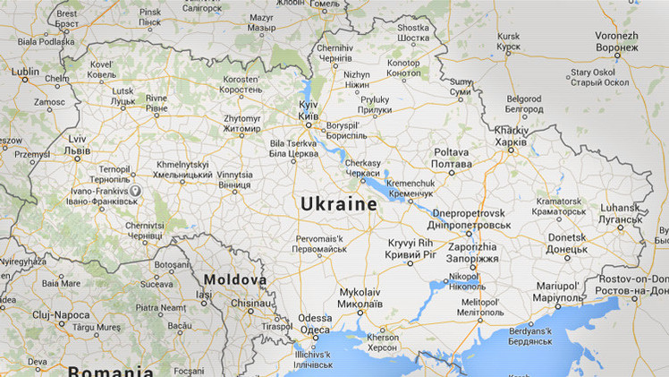 Un folleto del Gobierno polaco contiene un mapa de Ucrania 'partido' en dos