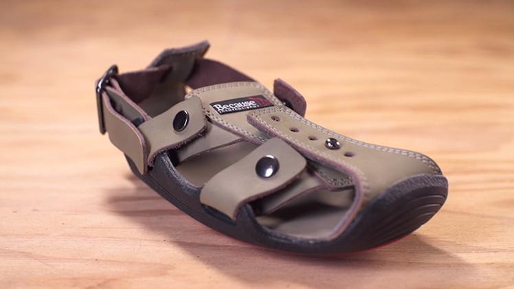 Sandalias que crecen cumplen el sueño de 300 millones de niños descalzos