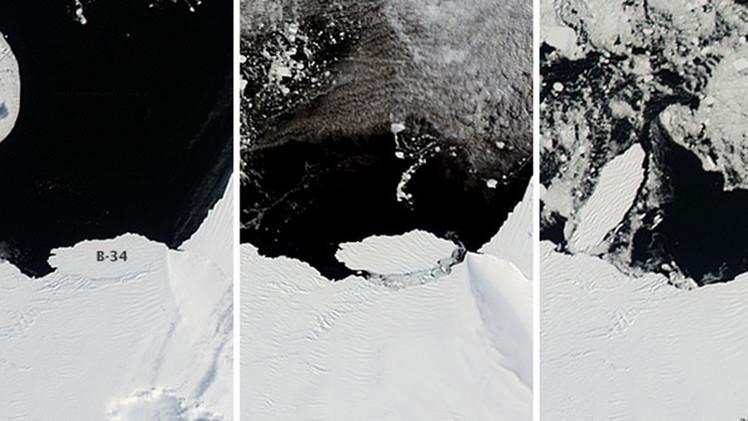 La NASA capta el nacimiento de un iceberg monstruoso en la Antártida