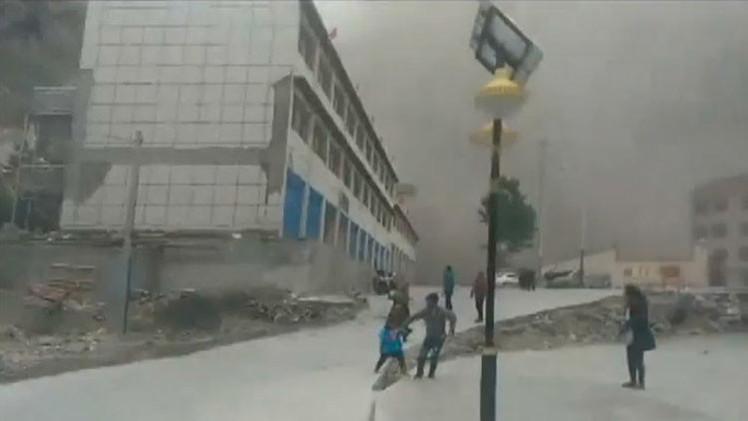 Impactante video: Un sobreviviente captura el momento en que el sismo de Nepal sacude el Tíbet