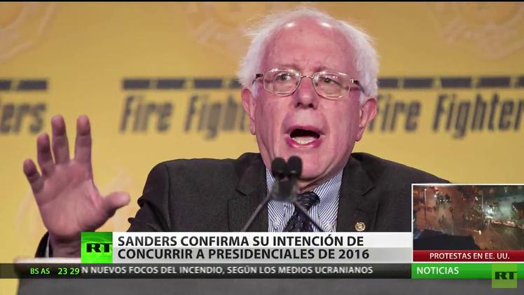 EE.UU.: Senador Bernie Sanders confirma su intención de concurrir a presidenciales de 2016