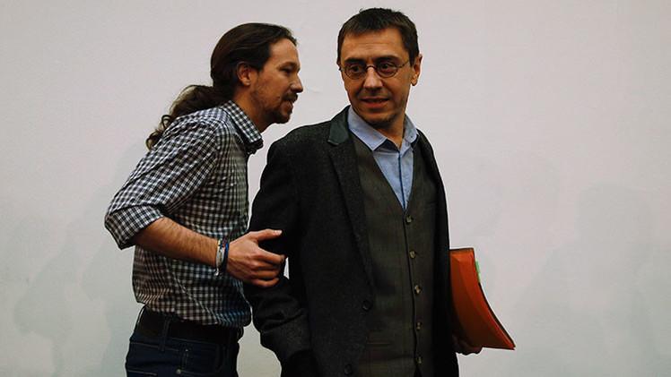 Pablo Iglesias anuncia la dimisión de Juan Carlos Monedero de la dirección de Podemos