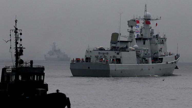 Los buques chinos en el golfo de Adén