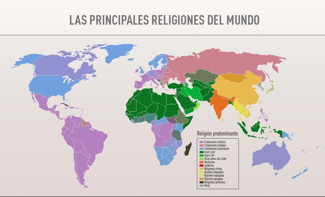 Infografía: ¿Qué será de las religiones en 2050?