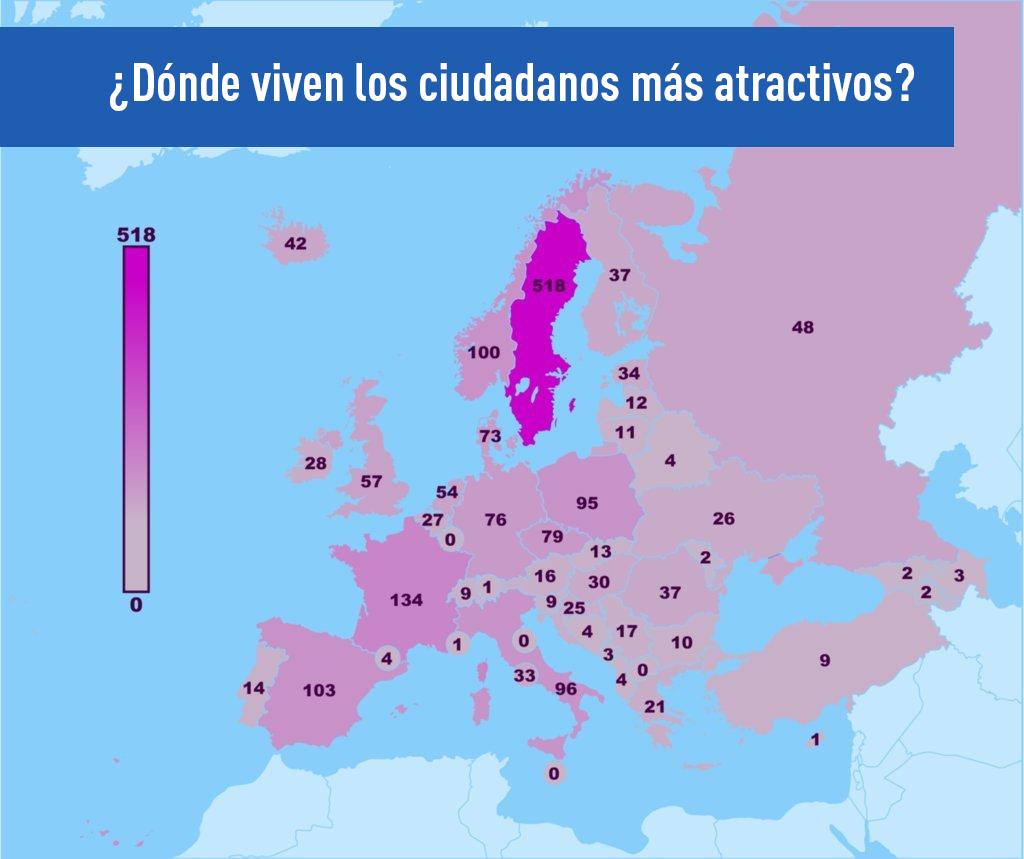 ¿Dónde viven los ciudadanos más atractivos?