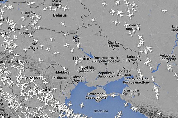 Mapas: Los lugares del mundo evadidos por aviones