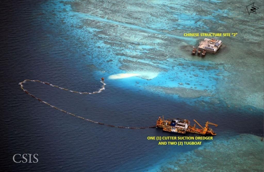 FOTOS: Impactantes imágenes de las islas artificiales que está creando China en el mar en disputa