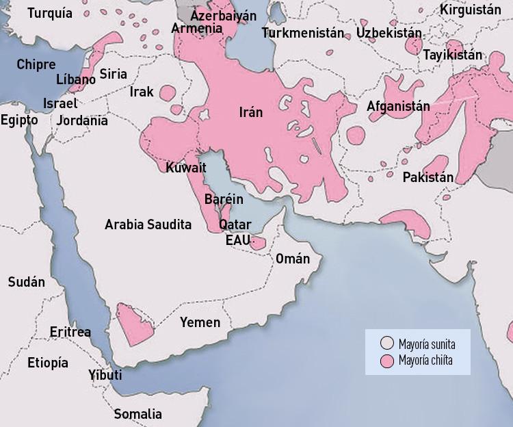 División entre los chiítas y los sunitas