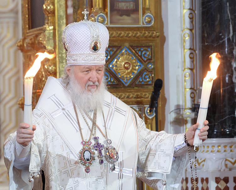 Se celebra en la catedral de Cristo Salvador de Moscú la misa de Pascua