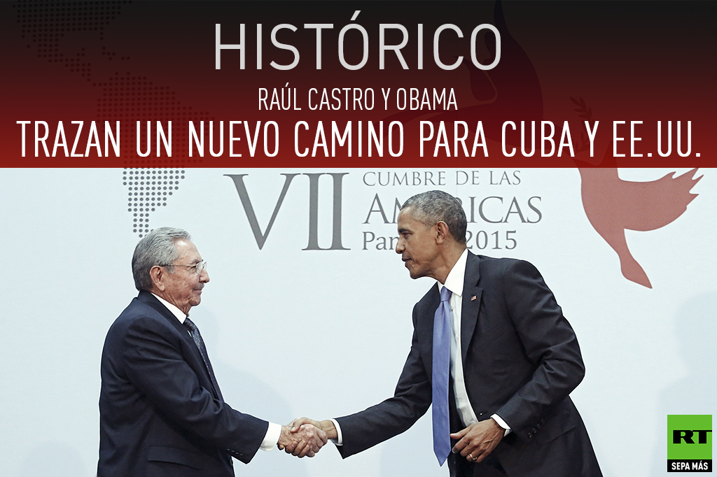 Raúl Castro y Barack Obama sostienen primera reunión bilateral en más de 50 años
