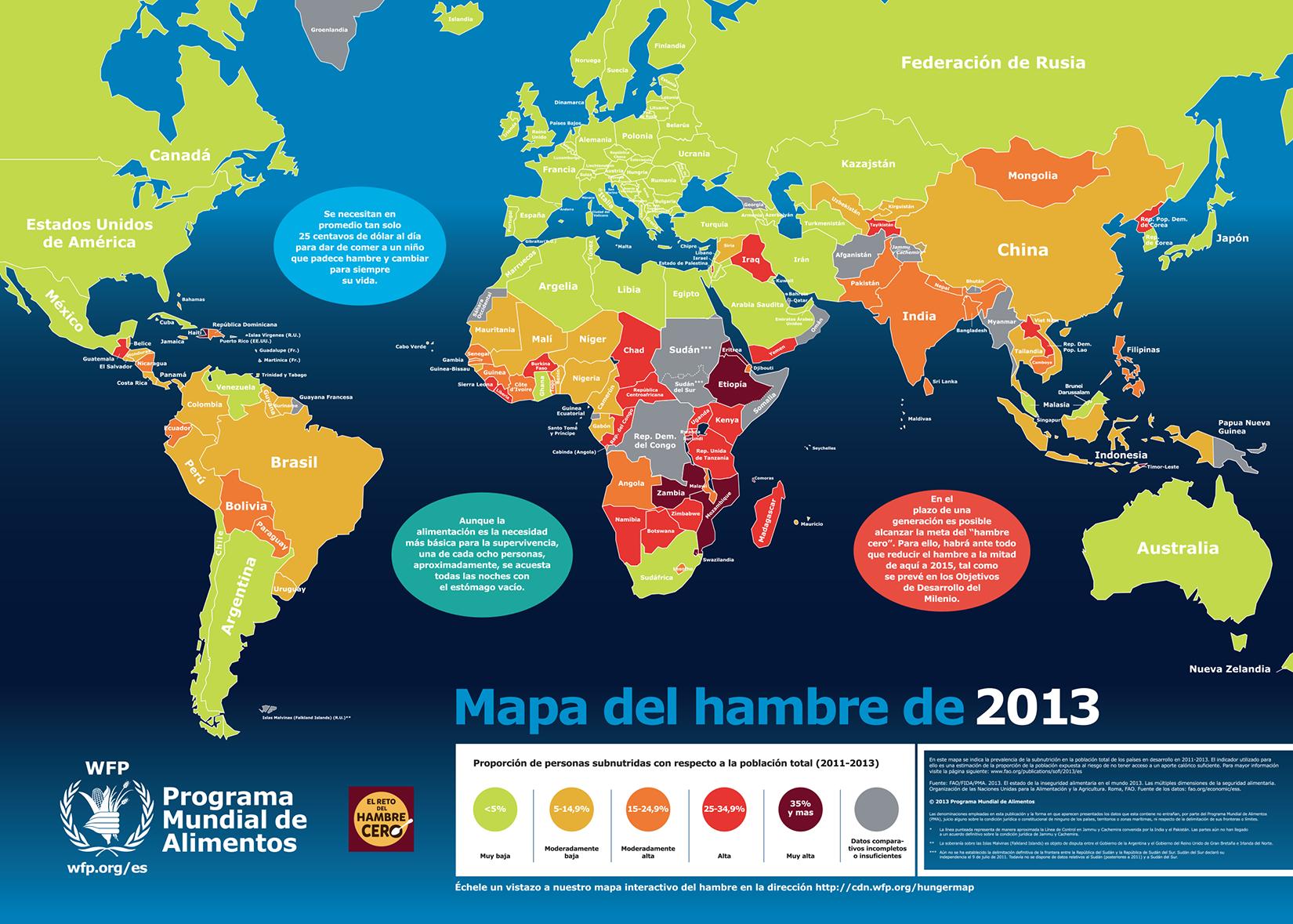 Mapa del hambre: ¿Qué país latinoamericano es al nivel de Etiopia?