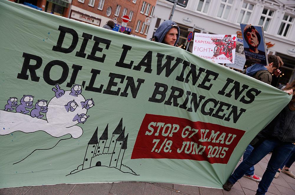 Manifestación en Alemania contra la cumbre del G-7