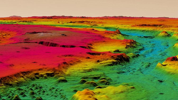 Un inédito mapa 3D revela como es 'estar en Marte'