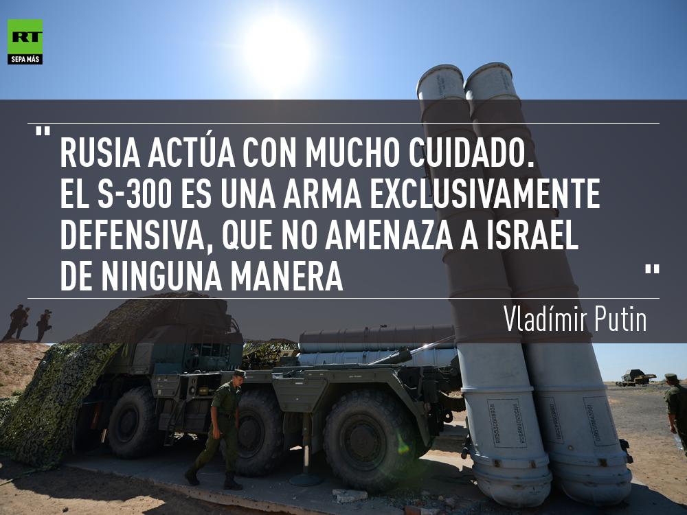 """Putin: """"El S-300 es una arma exclusivamente  defensiva, que no amenaza a Israel de ninguna manera"""""""
