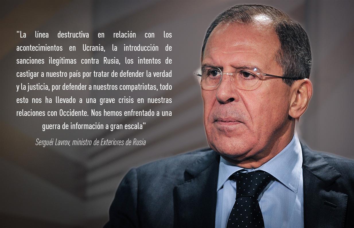 """""""La línea destructiva en relación con los acontecimientos en Ucrania, la introducción de sanciones i"""