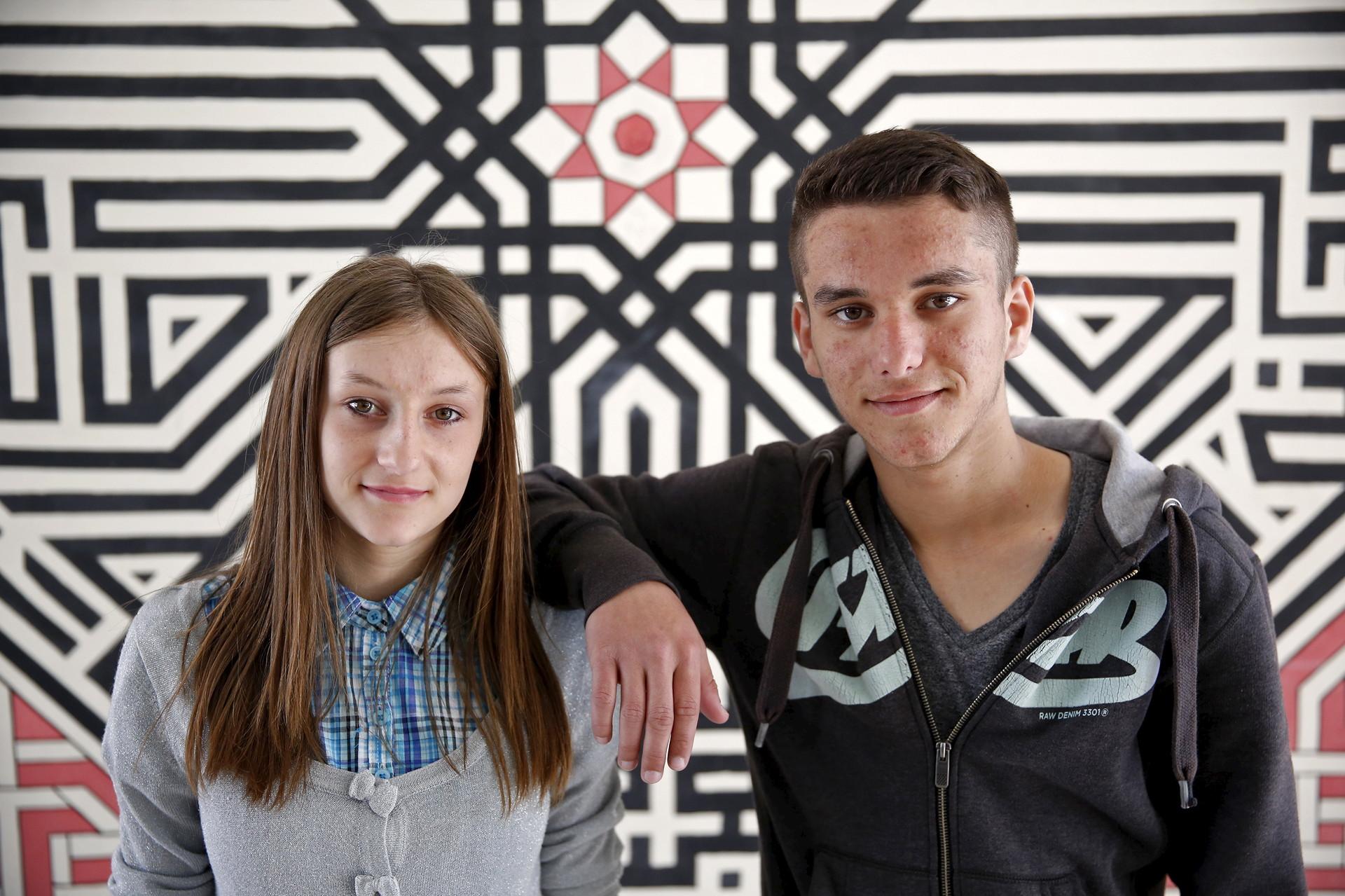 Adisa (izquierda) y Adis Muratovic
