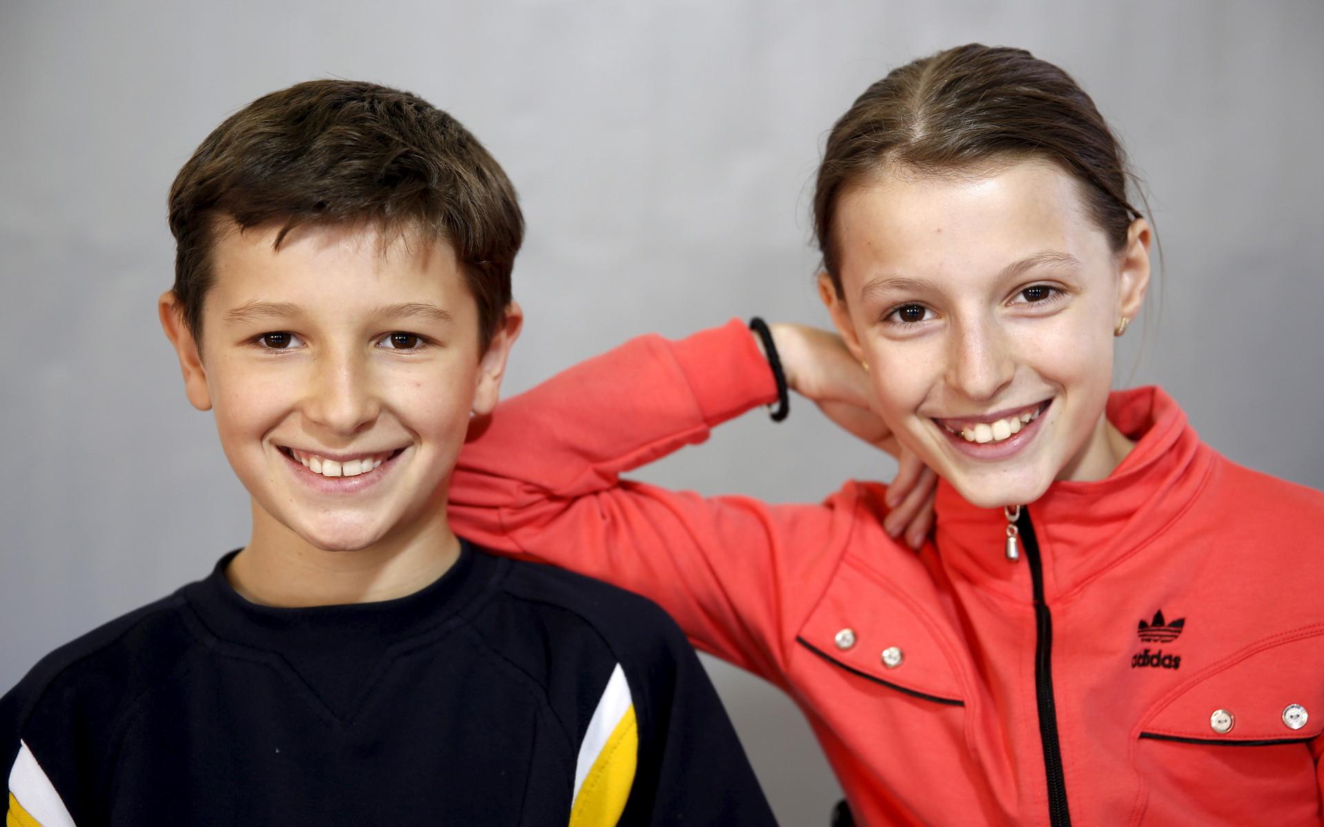 Sara (derecho) y Davud Catic