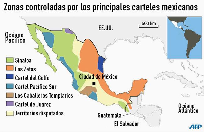 El mapa del narco en México