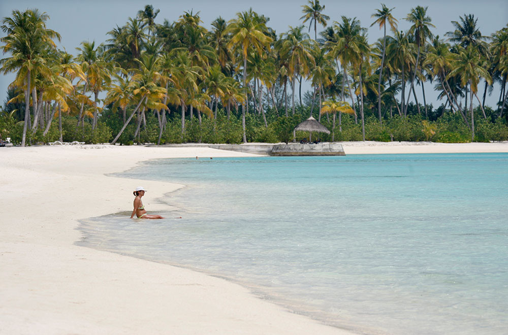 Una playa de arena