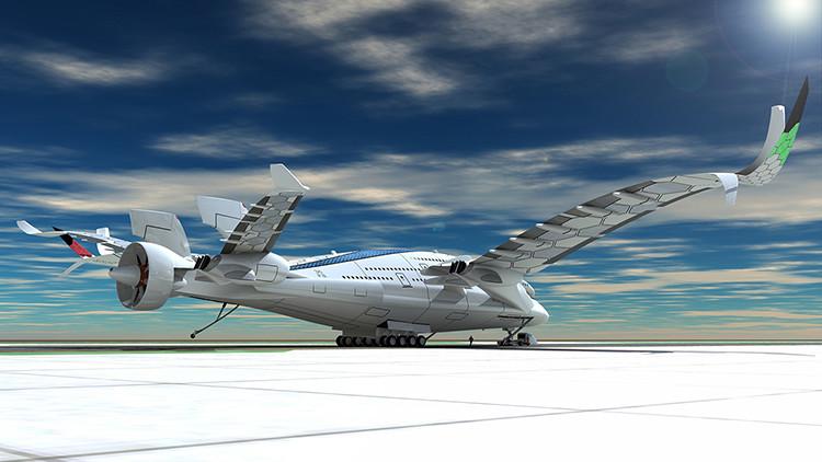 Fotos, video: El lujoso avión futurista con tres cubiertas y cero emisiones de carbono
