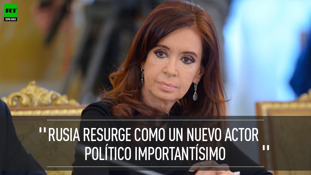 Fernández de Kirchner en Moscú